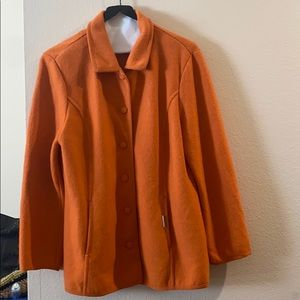 GEIGER COLLECTIONS WOMENS ORANGE COAT SIZE 40🧡